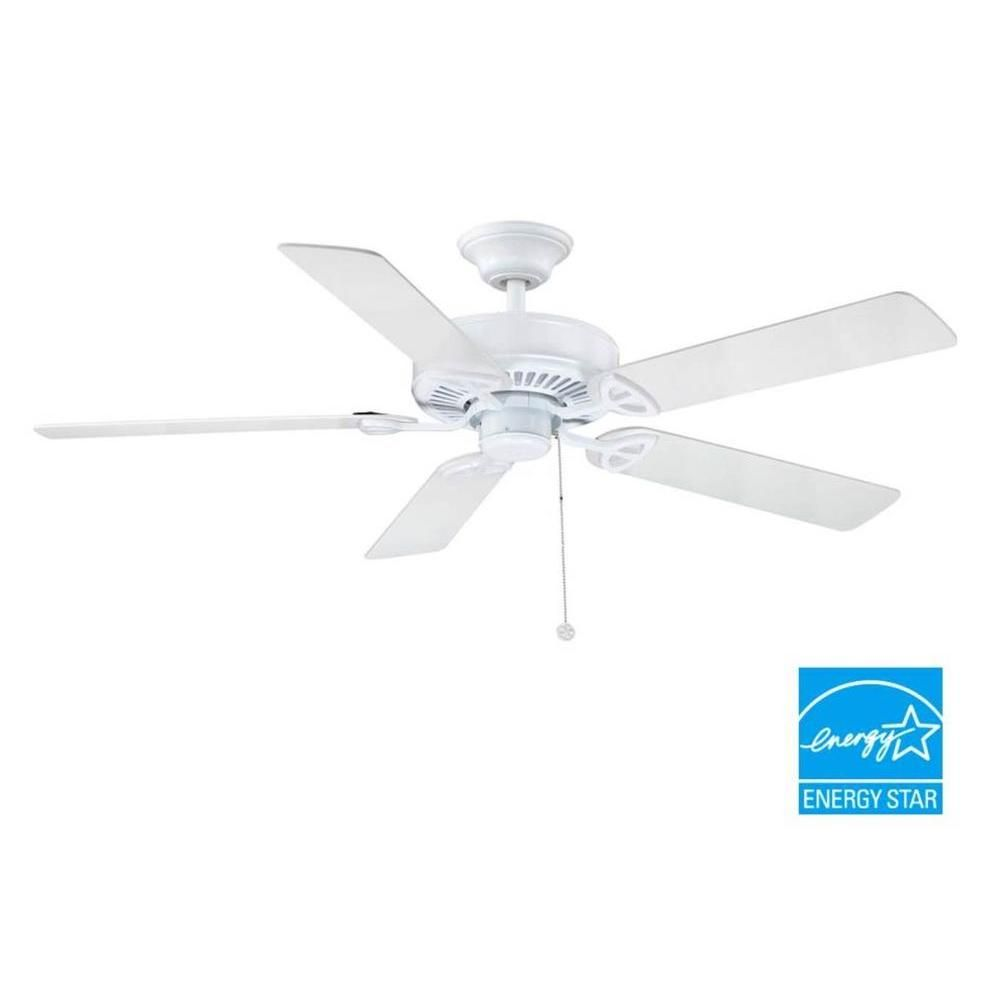 Indoor White Ceiling Fan B552QI WH   The Home Depot