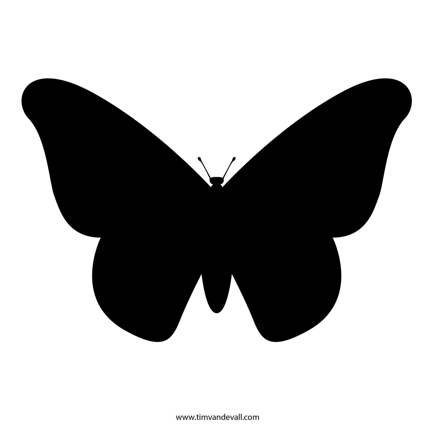 photograph relating to Butterfly Stencils Printable called Butterfly Stencils Printable No cost Butterfly Stencil