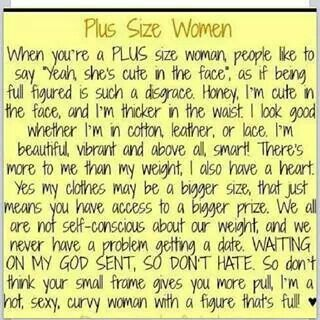 What a wonderful thing for us plus size women!