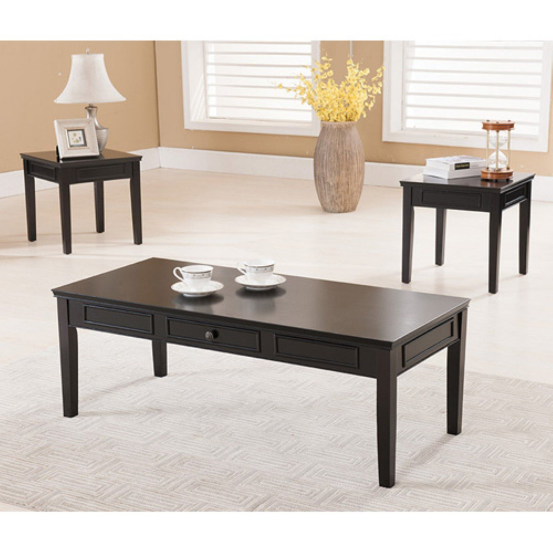 K B Furniture T Piece Cocktail And End Table Set T - Cocktail end table sets