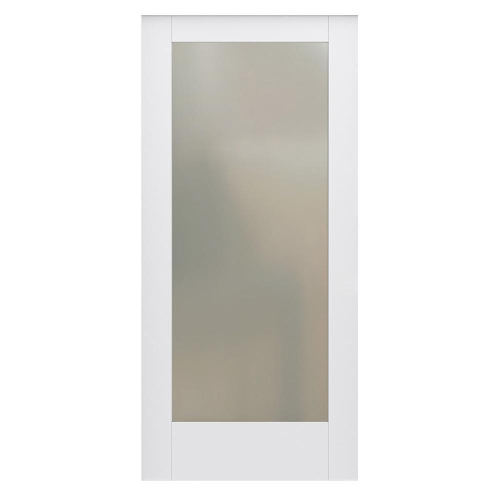 Doors · JELD WEN 36 In. X 80 In. DesignGlide Moda Primed PMT1011 Solid Core