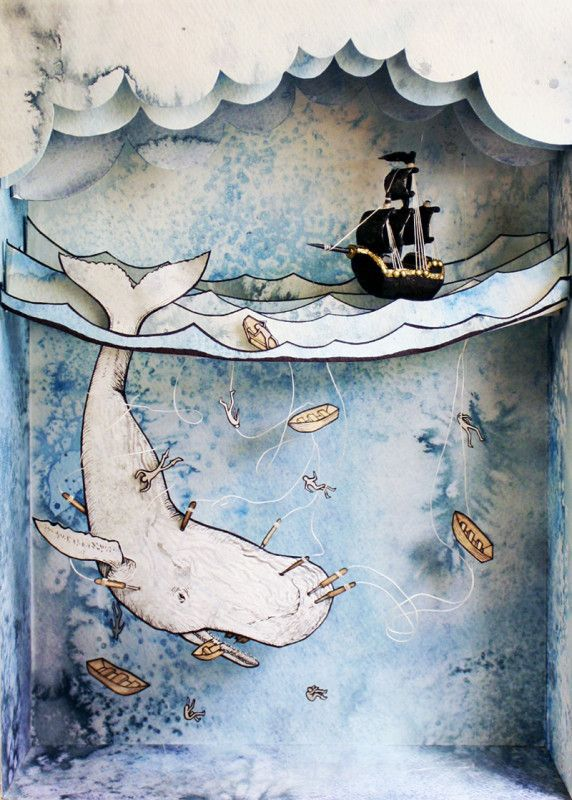Suzette Korduner. Shadow box in a book. Image only. Click on this image at site to link to see it in a book. Very cool. -lm