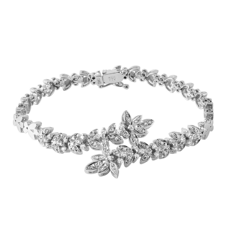 Ladies ctw natural diamond k gold bracelet products