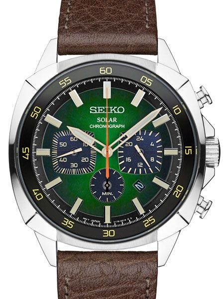 b2b1555a9 Seiko Solar Quartz Chronograph with Stop-Watch and 24-hour Sub-Dial ...