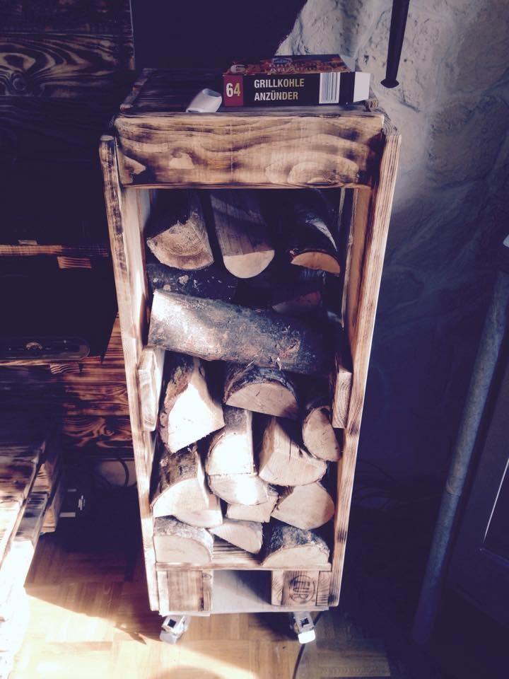 Diy Pallet Firewood Rack Holder Wood Pinterest Pallet
