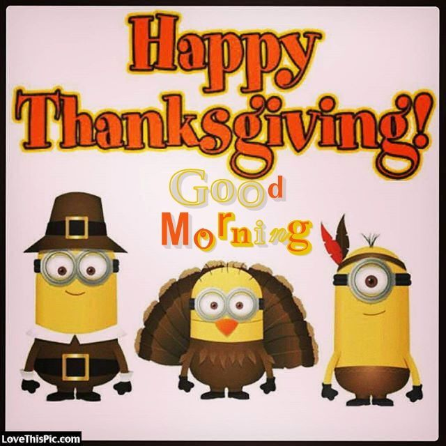 Minion Happy Thanksgiving Good Morning Quote Thanksgiving Good