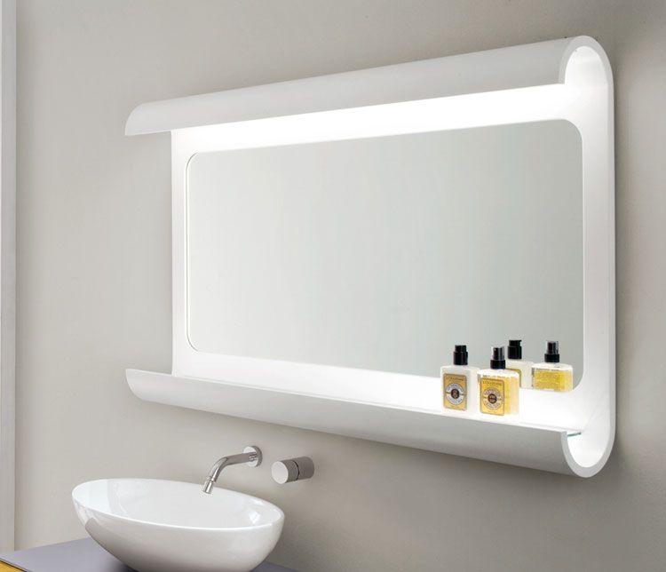 50 specchi per bagno moderni dal design particolare - Stampe per bagno ...