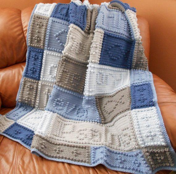 23RD PSALMS pattern for crocheted blanket | Salmo 23, Mantas de ...