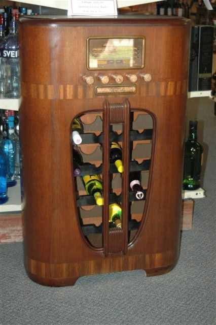 Sale Beautiful Converted Radio Into A Wine Rack Message Me For Price