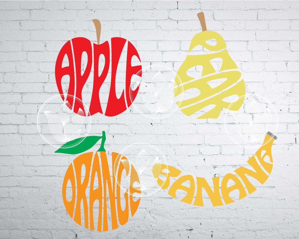 Apple Clipart Split Apple Graphic Apple Vector Apple SVG