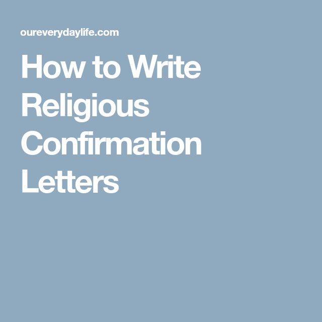 How To Write Religious Confirmation Letters  Palanca Ideas