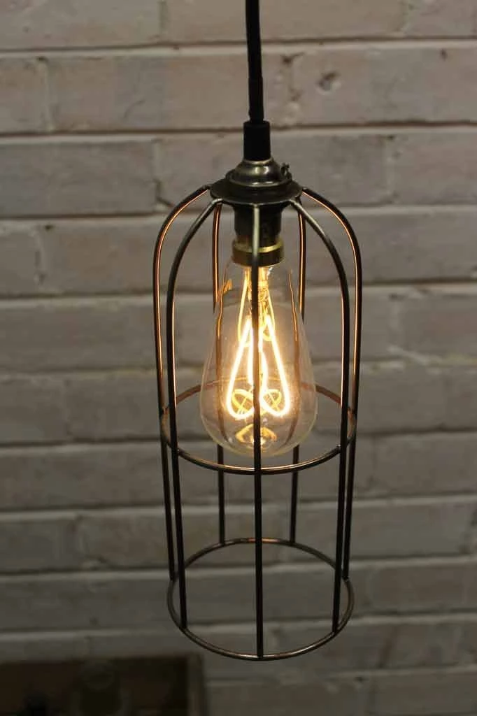 Long Cage Pendant Light With Images Cage Pendant Light