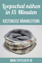 I39ll show you how to make a simple loop scarf in 15 minutes   Nähen Ill show you how to make a simple loop scarf in 15 minutes   Nähen