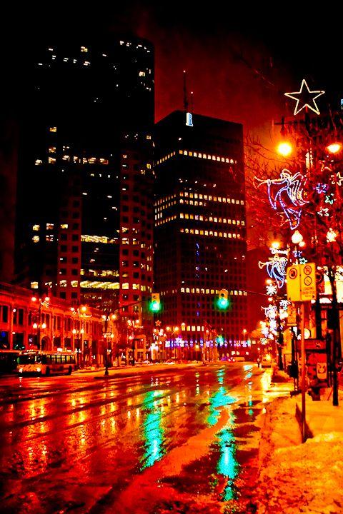 Carla Dyck Photography Tis The Season In Winnipeg Manitoba Travel City Lights At Night Winnipeg Canada