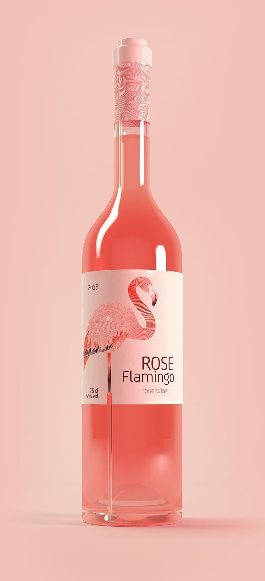 Packaging Spotlight Rose Flamingo Wine Wine Packaging Wine Bottle Design Wine Label Design
