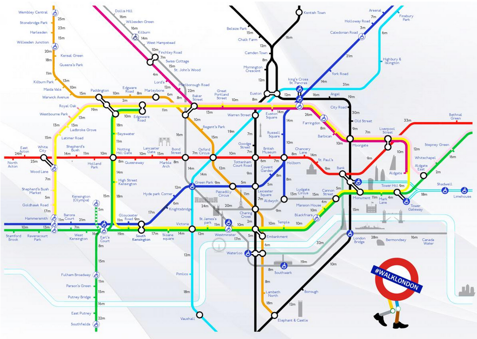 london based creative duo joe watson and aryven arasen currently freelancing at wcrs have seen their walking tube map of london explode online as the long