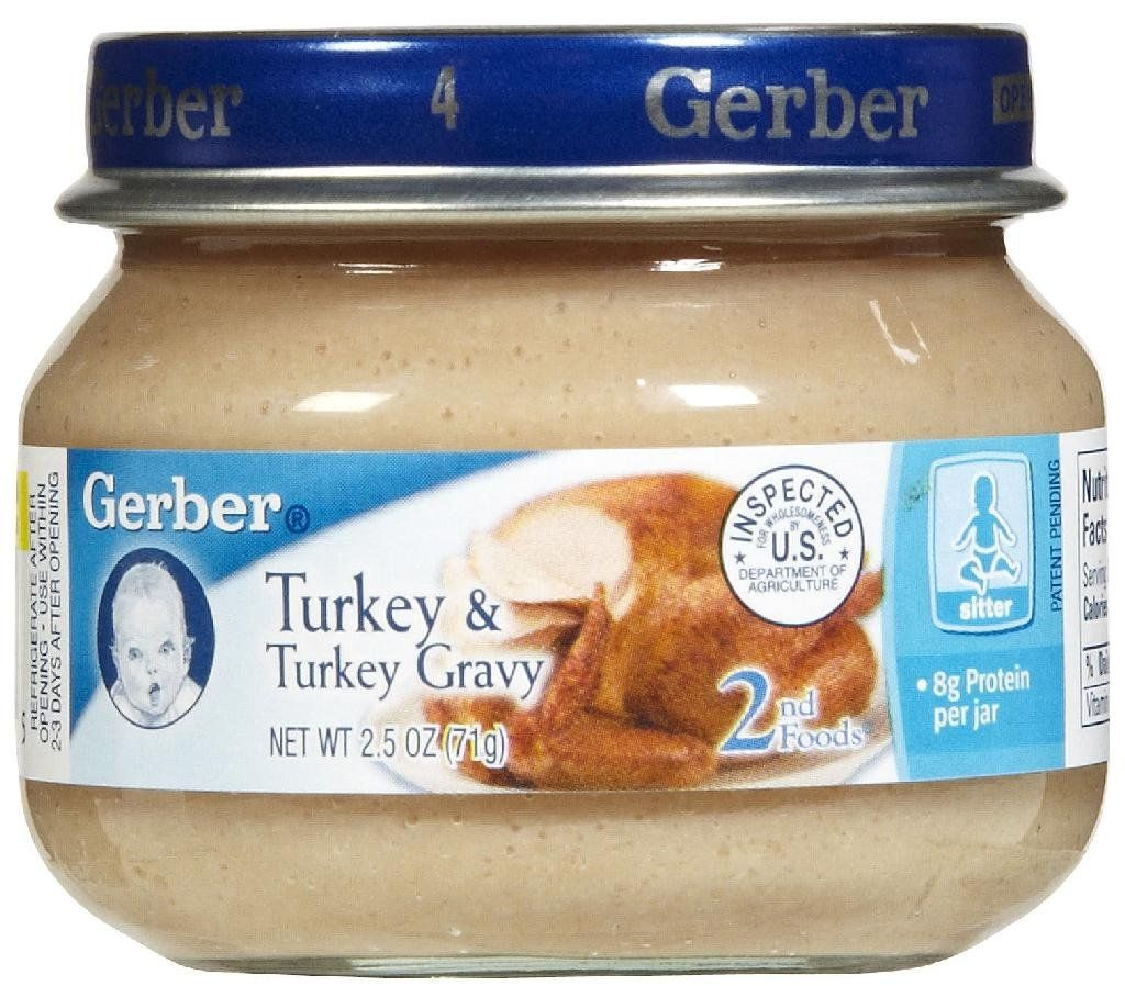 Gerber 2nd foods meats turkey gravy perfect for
