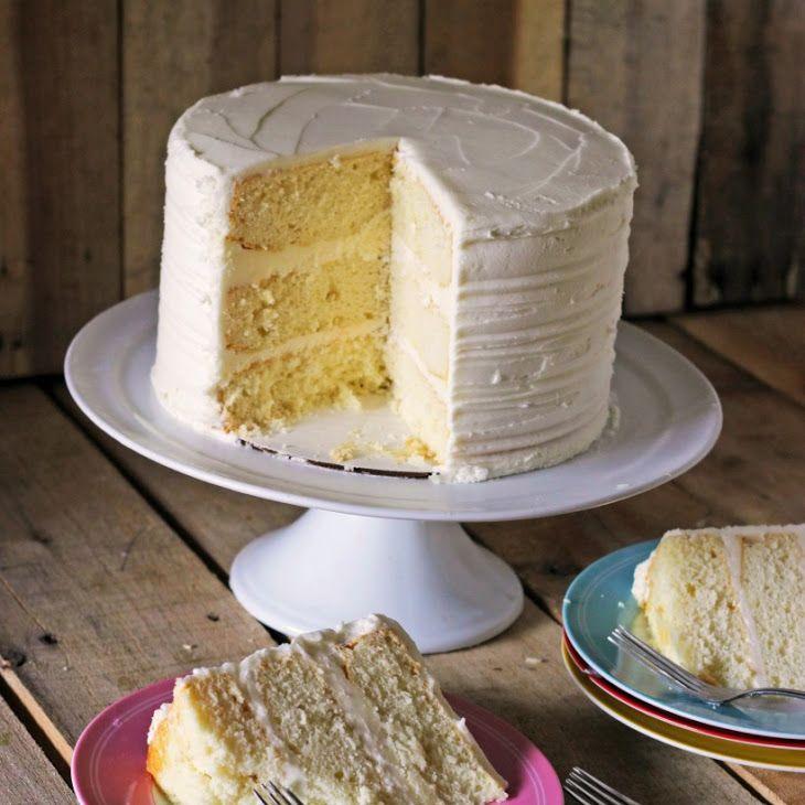 White Sour Cream Cake Recipe Yummly Recipe Sour Cream Cake Cake Recipes Cake Mix Recipes