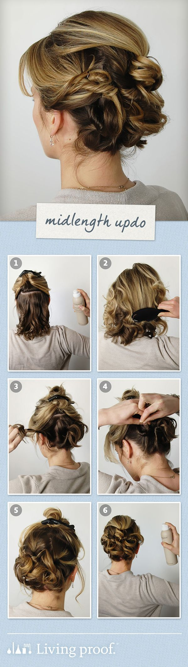 Livingproofinc wedding guest hairstylemidlength updo hair styles