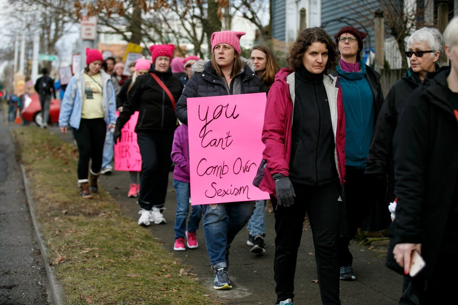 Thousands Of People Participate In The Womxn S March On Seattle Erika Schultz The Seattle Times Women S Rights Womens March Sexism
