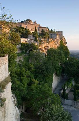 Les Baux de Provence, perched on the craggy cliffs of #Provence, #France.