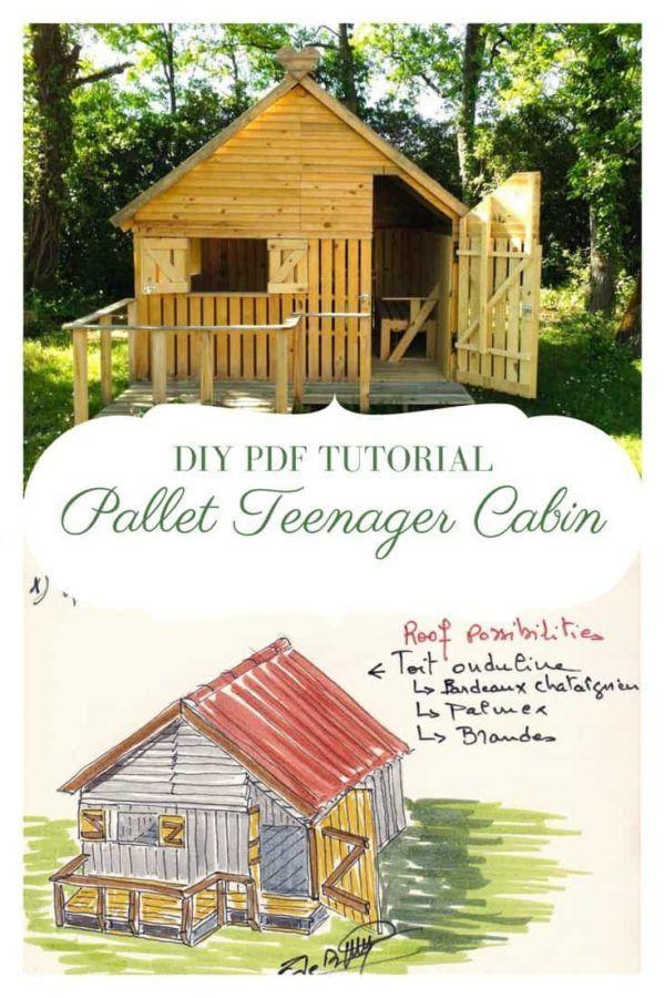 DIY PDF Tutorial Pallet Teenager Cabin • 1001 Pallets ...