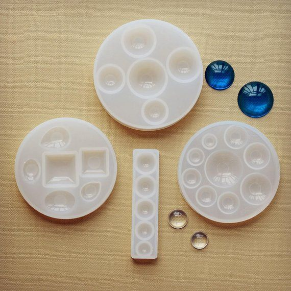 Silicone Mold for jewelry making ball beads flat round beads with holes 1pcs