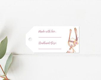 Headband Station Head Band Direction Sheet Woodland Baby Shower Instructions Printed Girl Nursery De