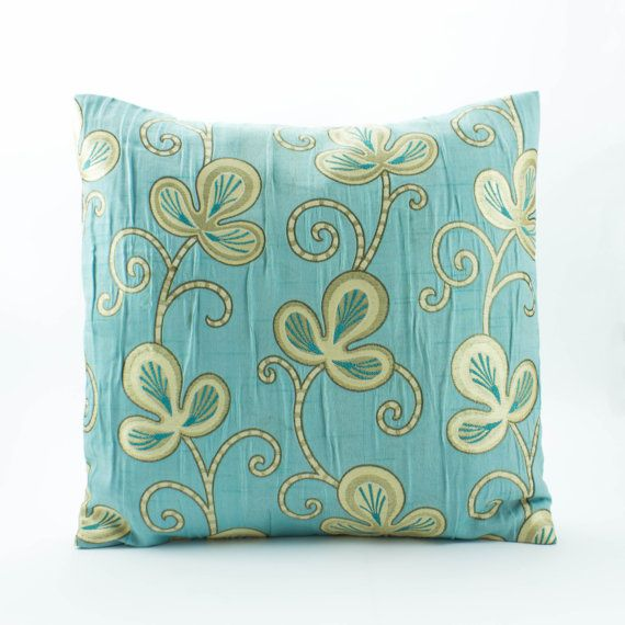 Tiffany Blue Decorative Throw Pillow Cover 40x40 Jacquard Tiffany Gorgeous Tiffany Blue Decorative Pillows