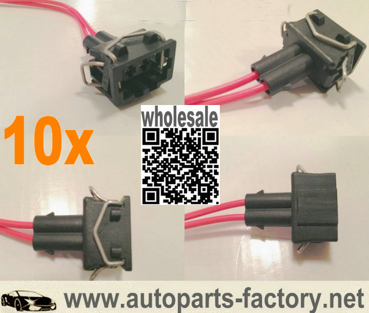 Long Yue 2 Way Fuel Injectore Pigtail Connector Automotive Wiring Harness Socket Sockets Pigtails Harness