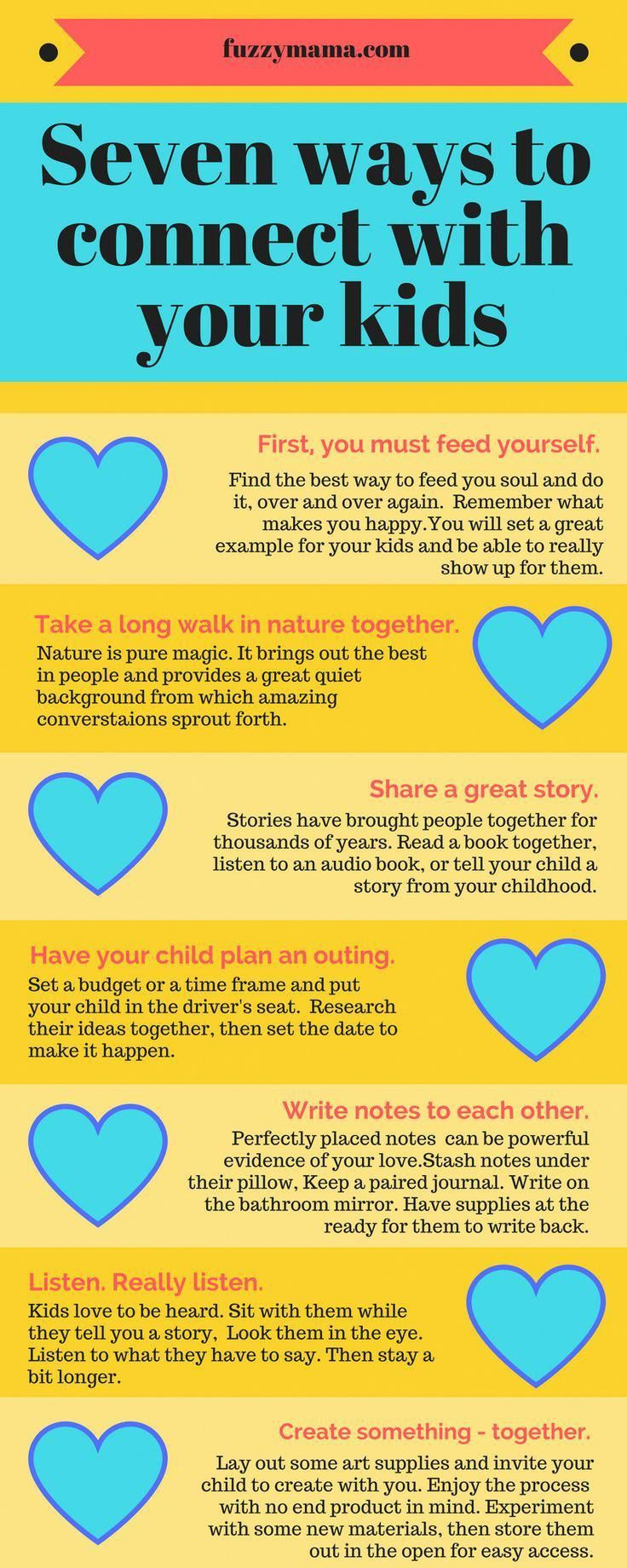 Seven ways to connect with your kids #parenting