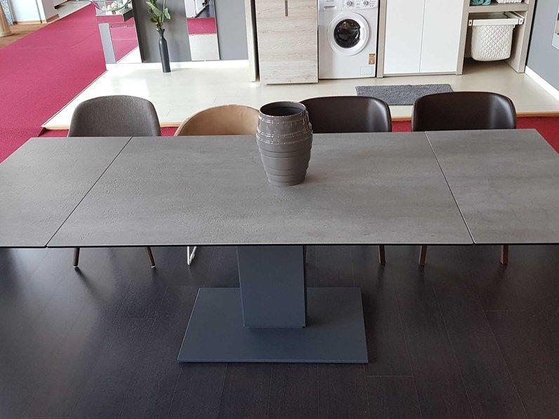 Outlet Tavolo Calligaris Echo in ceramica cemento | Tavoli ...