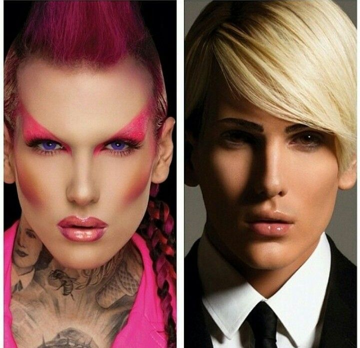 Jeffree Star makeup transformation. He looks so awsome, its so weird how changing makeup can totally change how you look.