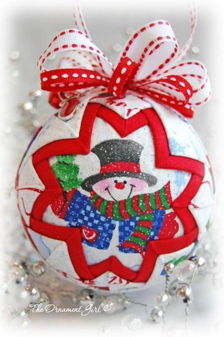Quilted Snow Globe Ornament Craftsy Xmas Balls Quilted