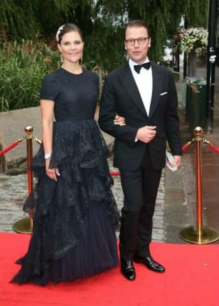 Crown Princess Victoria and Prince Daniel of Sweden attend the Childhood Foundation banquet 9/8/14