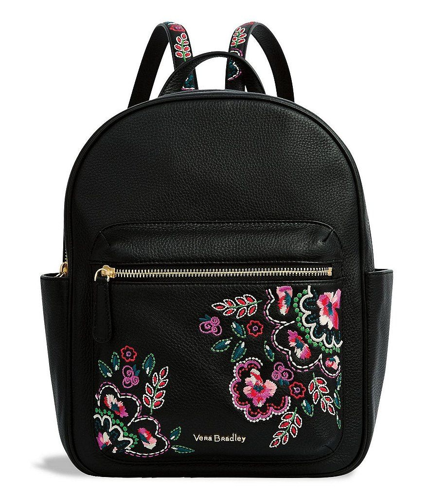 662b4bc8328d Vera Bradley Leighton Floral-Embroidered Backpack