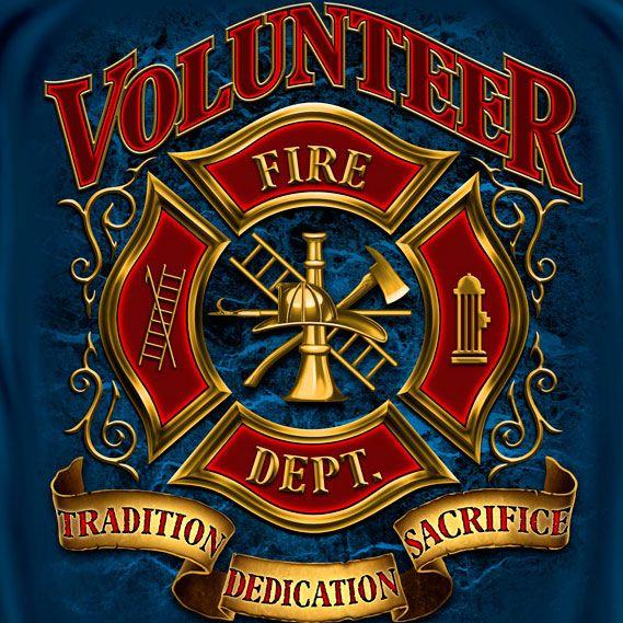 Volunteer Fire Department T-Shirt - Blue