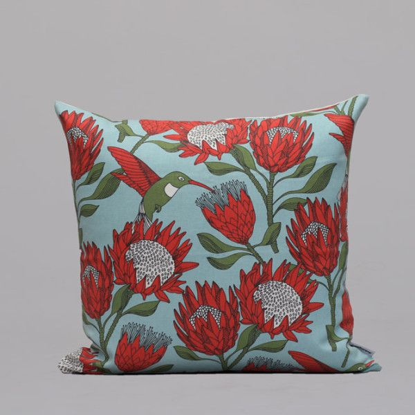 Pleasant 50Cm Cushion Cover Protea Blue Podushki Blue Cushion Onthecornerstone Fun Painted Chair Ideas Images Onthecornerstoneorg