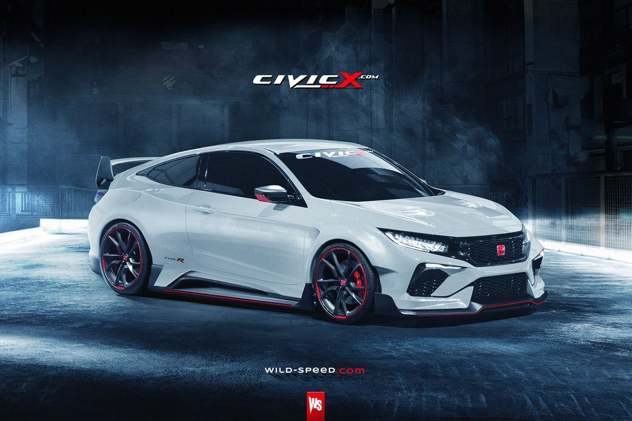 Honda Civic coupe concept gets Type R render (con imágenes