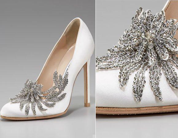 manolo blahnik white swan shoes