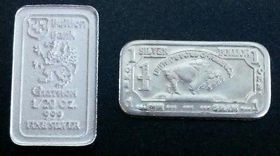 Bullion Bank 1 20 Oz Silver Bar 1 Gram Buffalo Silver Bar 999 Fine Silver Silver Bars Gold Bullion Bars Sell Gold