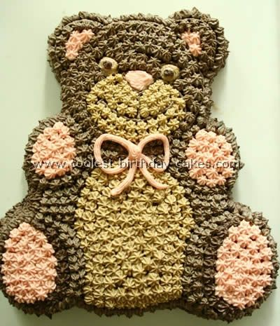 Coolest Teddy Bear Cakes and Free Cake Decorating Ideas | Bear ...