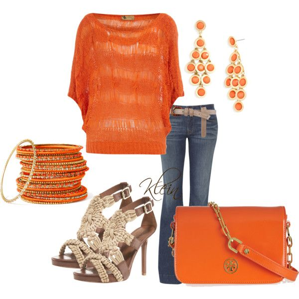 Orange, created by stacy-klein on Polyvore