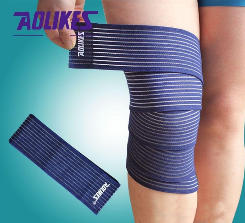 1pair 18075cm elastic knee support strap knee wraps