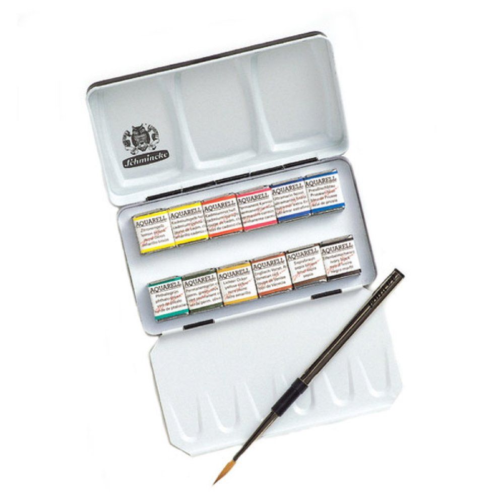 Schmincke Half Pan Watercolor Pocket Set Quot A Compact Metal