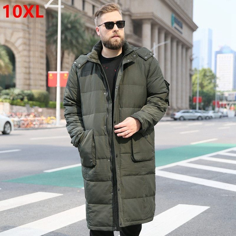 c5f2535c Big Size Brand Men' Large Size Winter Jacket Male Over The Knee ...