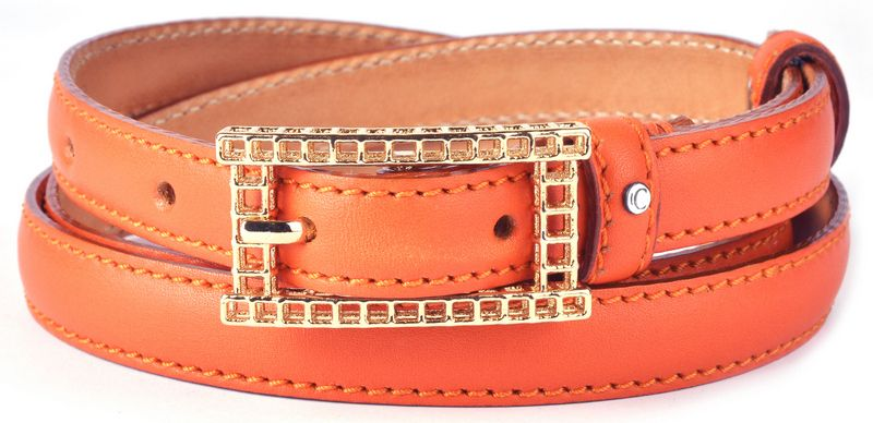 "Orange 2016 "" Calfskin Box Leather Ladies' Narrow Belt "" https://www.casanova1948.com/en/narrow-belts/orange-2016-calfskin-box-leather-ladies-narrow-belt-114.html"