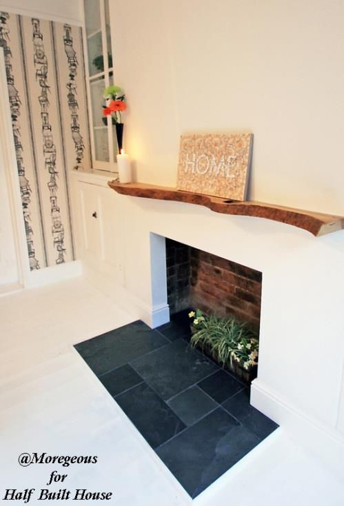 How To Create A Contemporary Fireplace Opening With A Timber Mantelpiece Contemporary Fireplace Dining Room Fireplace Fireplace