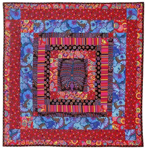 Liberated Medallion quilt, workshop by Gwen Marston at Quilted Strait