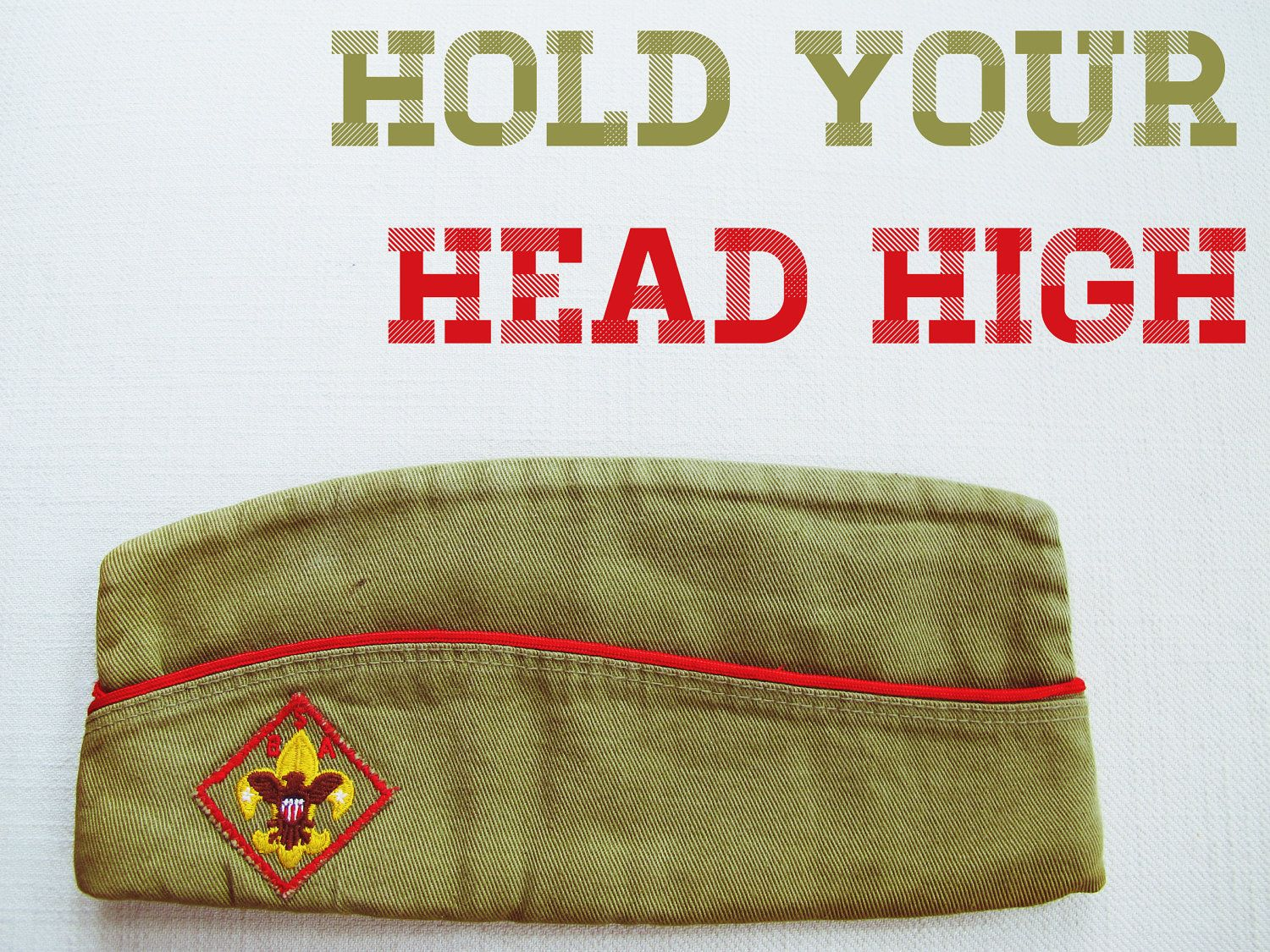 Hold Your Head High Vintage Boy Scout Hat By